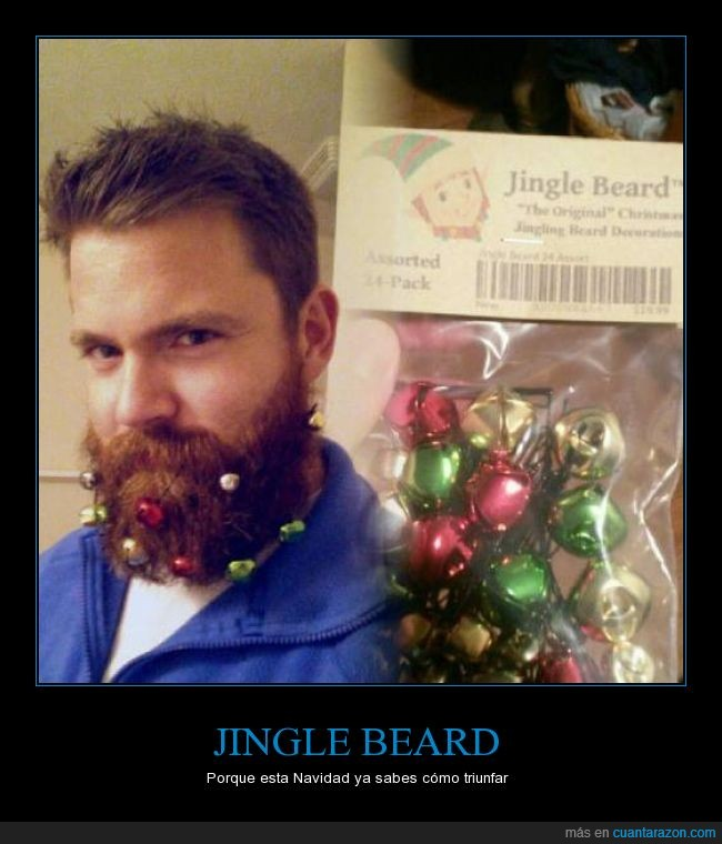 adorno,barba,bola,cascabel,colgar,hipster,Jingle beard,navidad