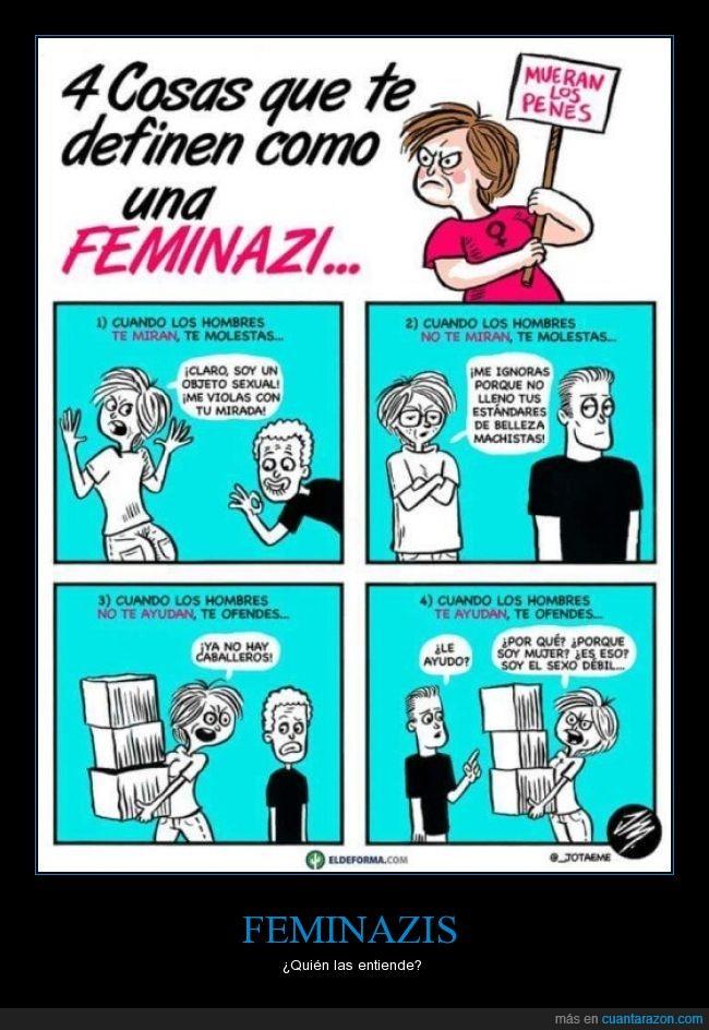 caricatura,cómic,dibujos,Feminazis,hembrista,historieta,humor