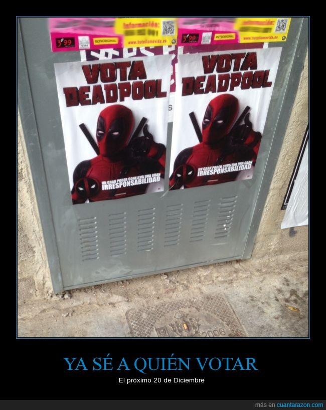 comic,deadpool,Deadpool for president,niPPniPSOE,visto en valencia,vota