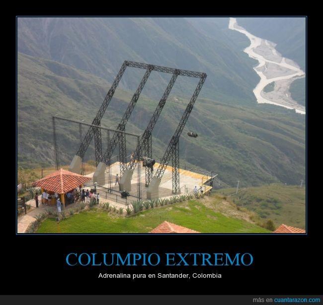 adrenalina,altura,colombia,columpio,extremo