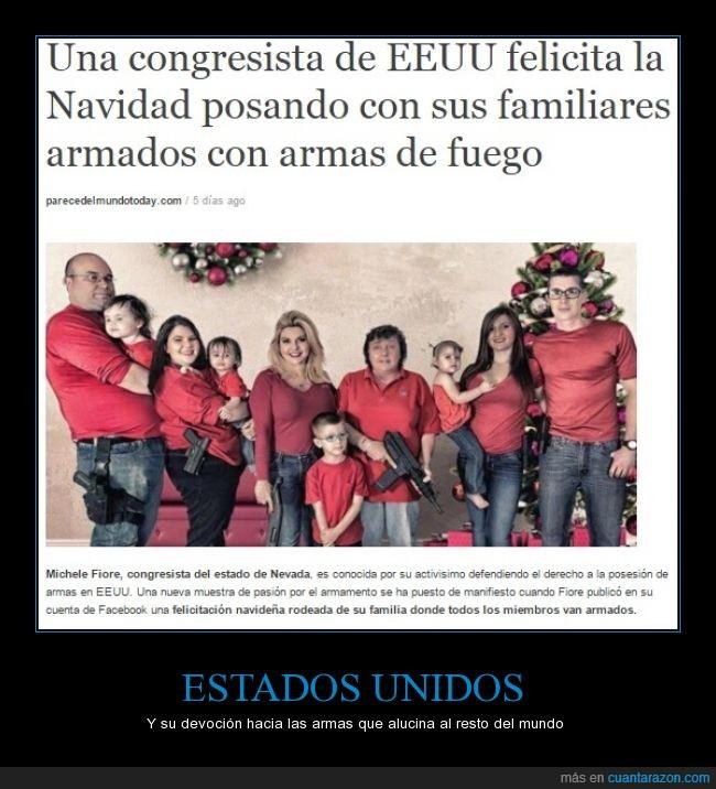 america,armas,congresista,Estados,felicitacion,Michele Fiore,navidad,Nevada,unidos