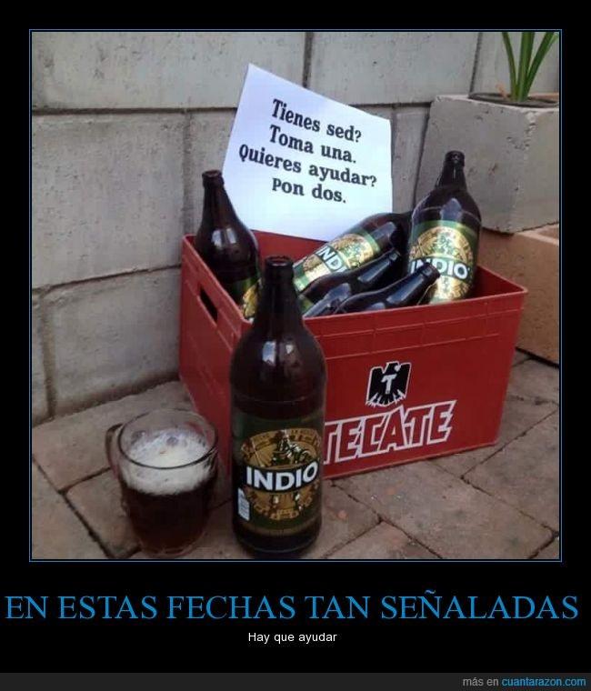 ayudar,beber,Borrachos,caja,cerveza,dejar,tecate
