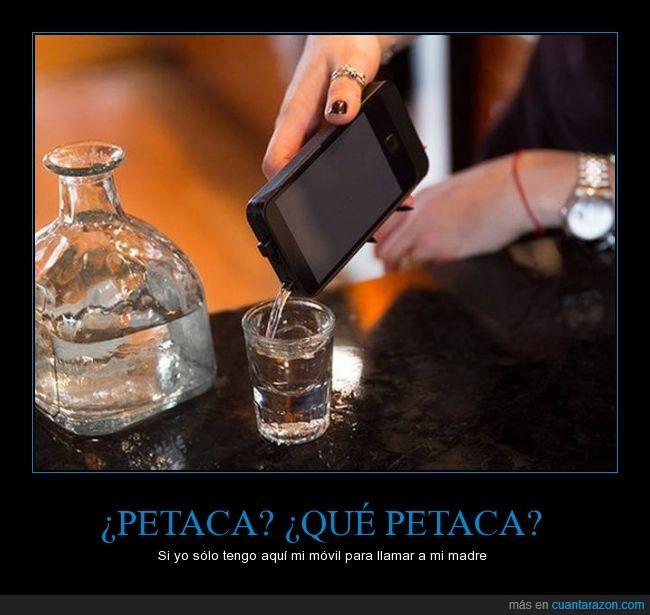 beber,bebida,colar,discoteca,iphone,llamada,movil,petaca