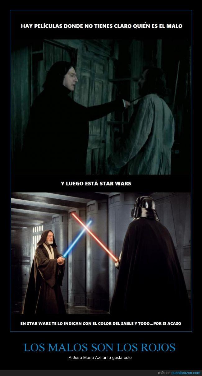 azul,bueno,color,Darth Vader,jijijijijiji,La guerra de las galaxias,lo juro,malo,no me paga abrams,otra de star wars,rojo