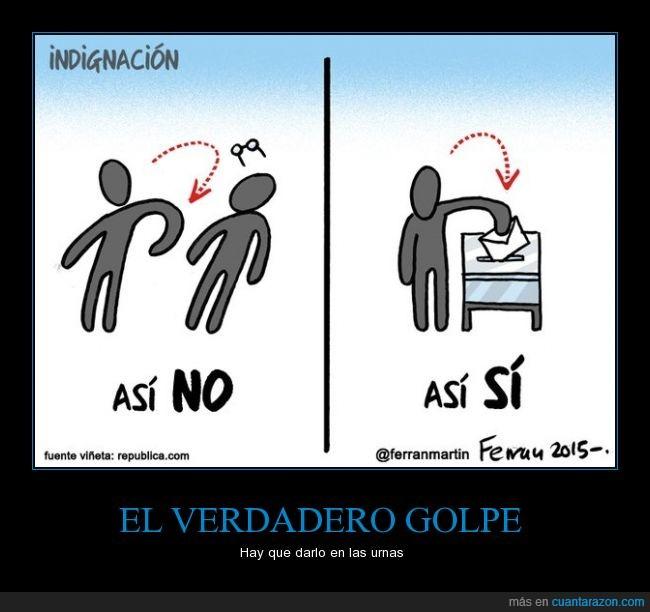 elecciones,golpe,no,Pontevedra,puñetazo,Rajoy,sí,urna,votación,votar