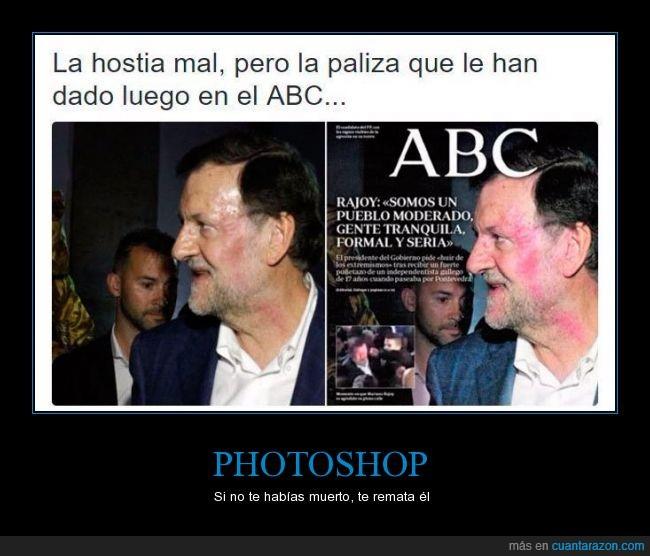 ABC,ataque,Mariano Rajoy,montaje,photoshop,Pontevedra,portada