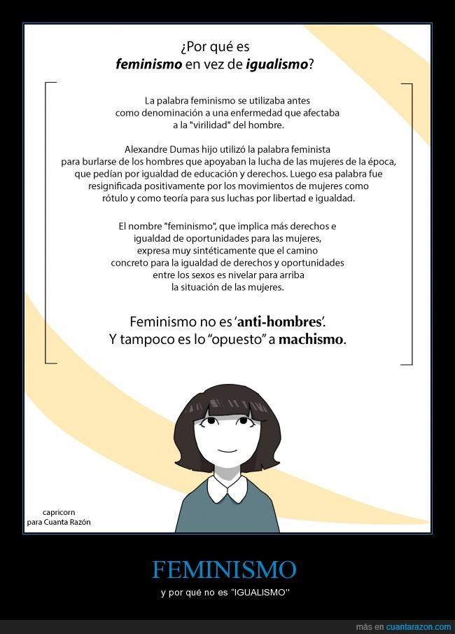 "feminismo,no,no es lo mismo que feminazi,no soy ""feminazi"",tampoco hembrista"