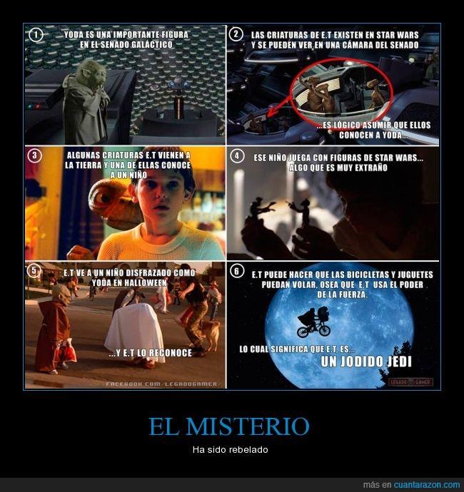 alien,E.T,ET,extraterrestre,jedi,planeta,star wars,yoda
