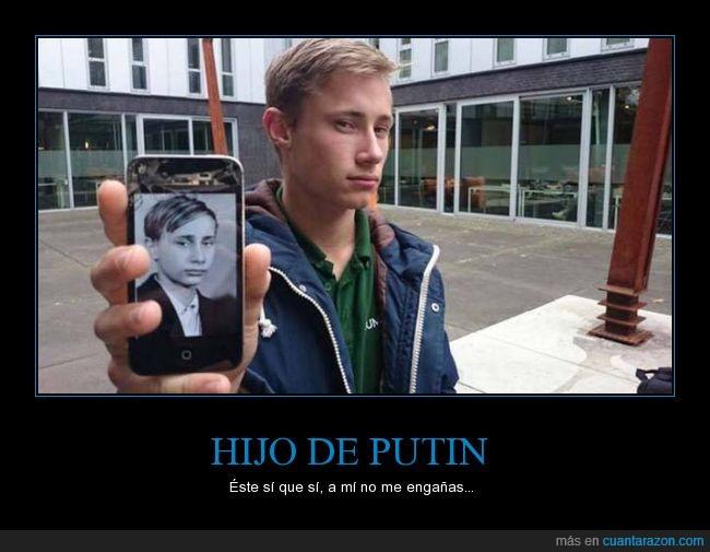 chico,clavado,hijo,igual,niño,parecido,Putin