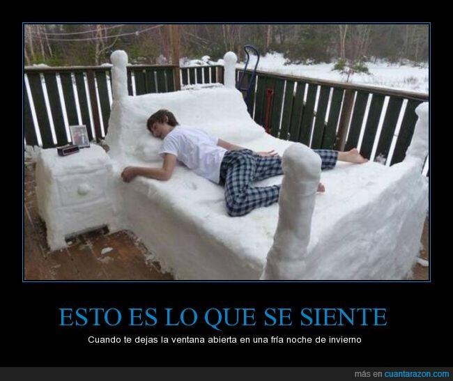 abierta,cama,chico,dormir,fria,frio,habitación,nieve,pijama,venta