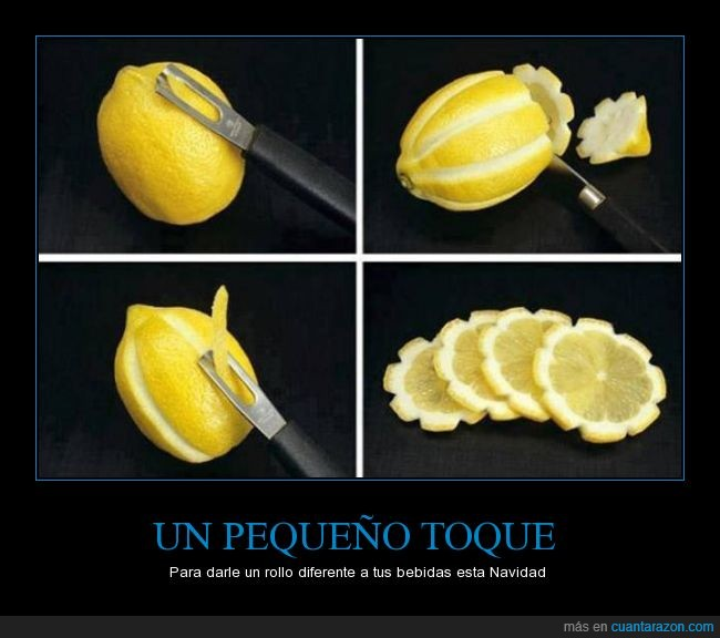 cuchillo,flor,limon,piel,rueda,truco