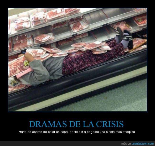 carne,comida,crisis,drama,fresco,frio,loca,margaret,nevera,supermercado