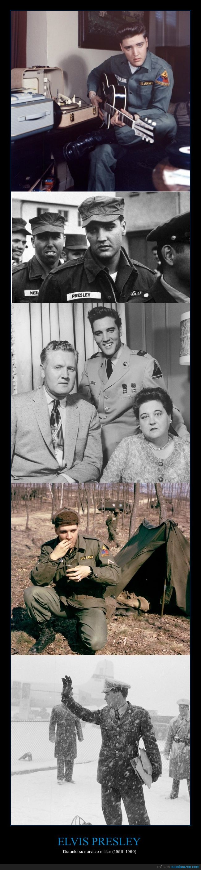 carpa,Elvis Presley,Sargento Presley,Servicio Militar,Soldado,sus padres