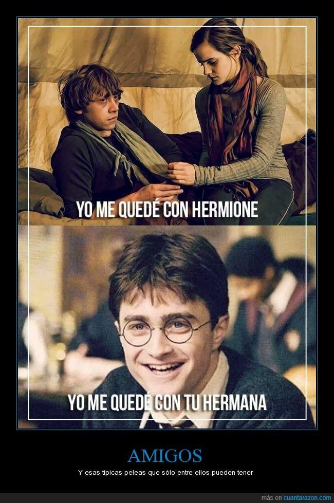 amigo,amor,Ginny,harry potter,hermana,hermione,ron weasley