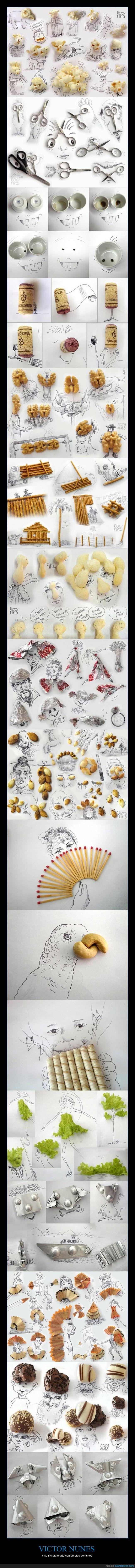 arte,cerillas,dibujo,fosforos,lapiz,nuez,taza,tijeras,Victor Nunes