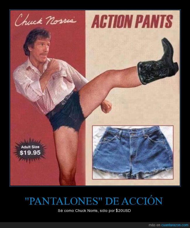 acción,anuncio,botas,Chuck Norris,material de vaqueros,pantalones cortos,WTF