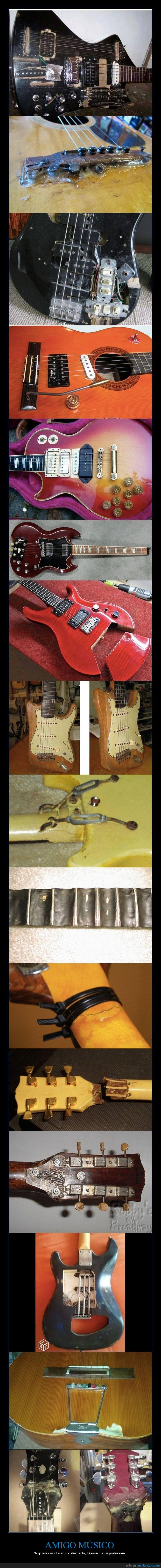 apaños,chapuza,desastre,dolor,guitarra,más en la fuente,modificaciones