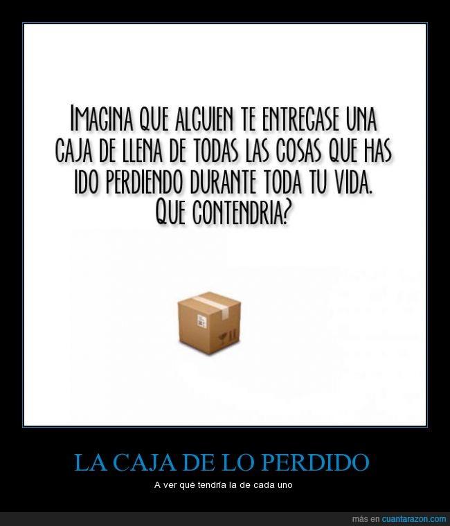 caja,perder,perdido,vida