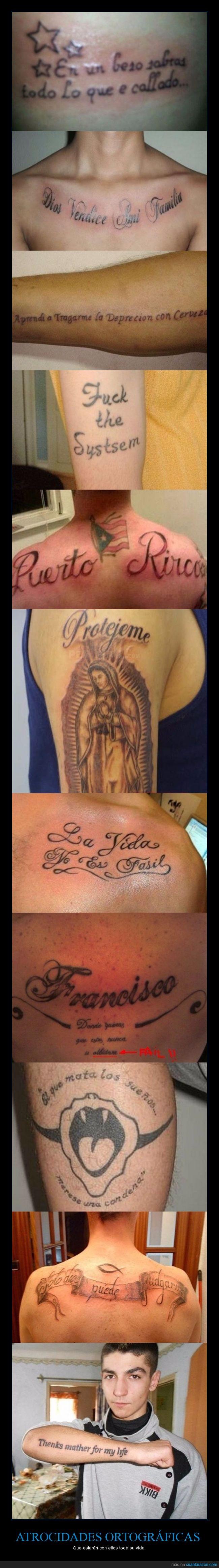 Dios,error,fail,ortografía,ortográfico,tattoo,tatuaje