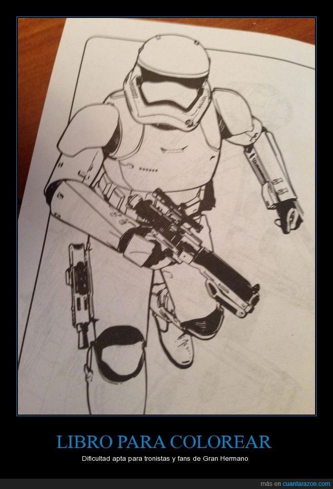 blanco,colorear,pintar,primera orden,Star Wars,stormtrooper