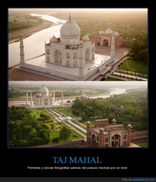 aéreas,completo,dron,drones,fotografías,Taj mahal