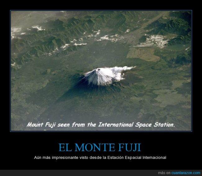 eei,estacion espacial internacional,Fuji,iss,Japón,Monte