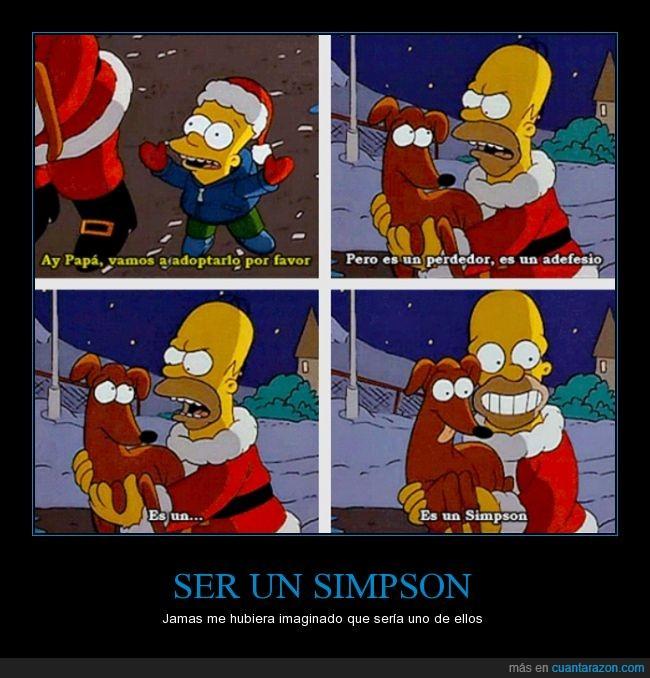 Adefesio,papa noel,Pequeño ayudante de Santa claus,perdedor,perro,Simpson,todos