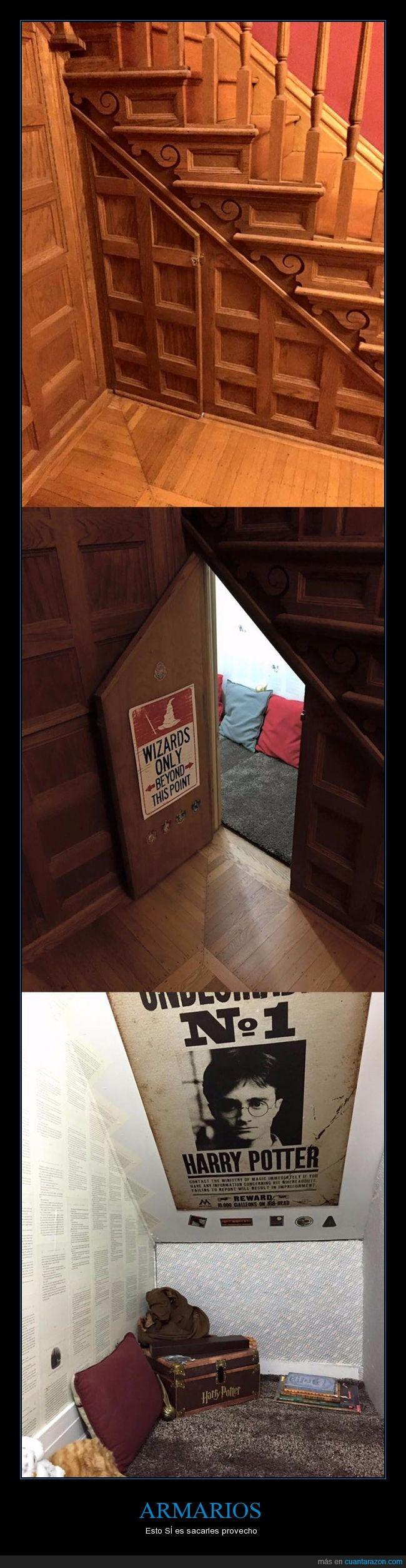 aprovechar,armario,debajo,escalera,habitación,harry potter