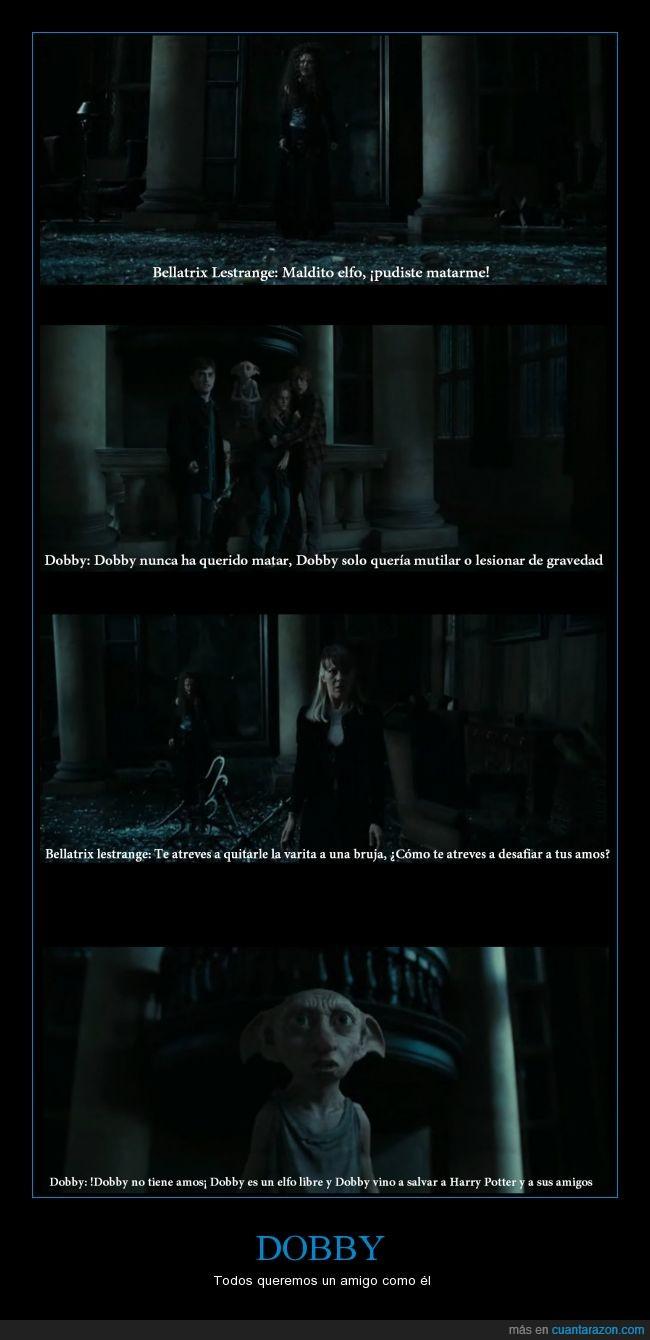 amigo,amistad,dobby,harry potter,hermione,ron,salvar