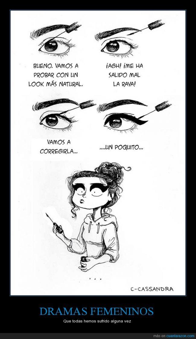 drama,eyeliner,femenino,maquillaje,negro,ojo