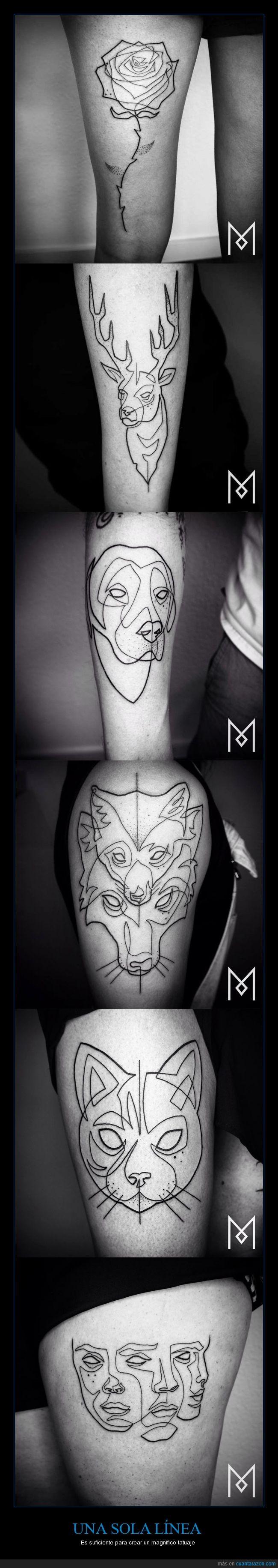 Arte en la piel,Tatuajes lineales,Yo quiero uno