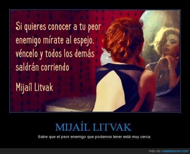 dentro,derrotar,enemigo,Mijail Litvak,mismo,vencer