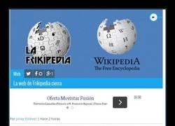 Enlace a Adiós, Frikipedia...