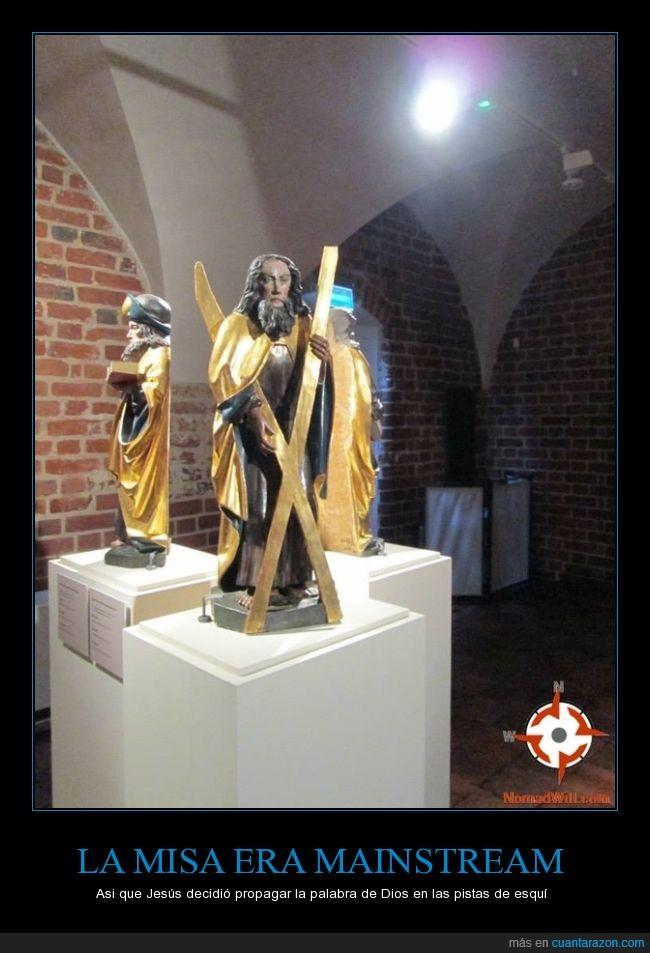 Castillo de Malbork,entre tantas figuras una destacaba,Jesus of Snow