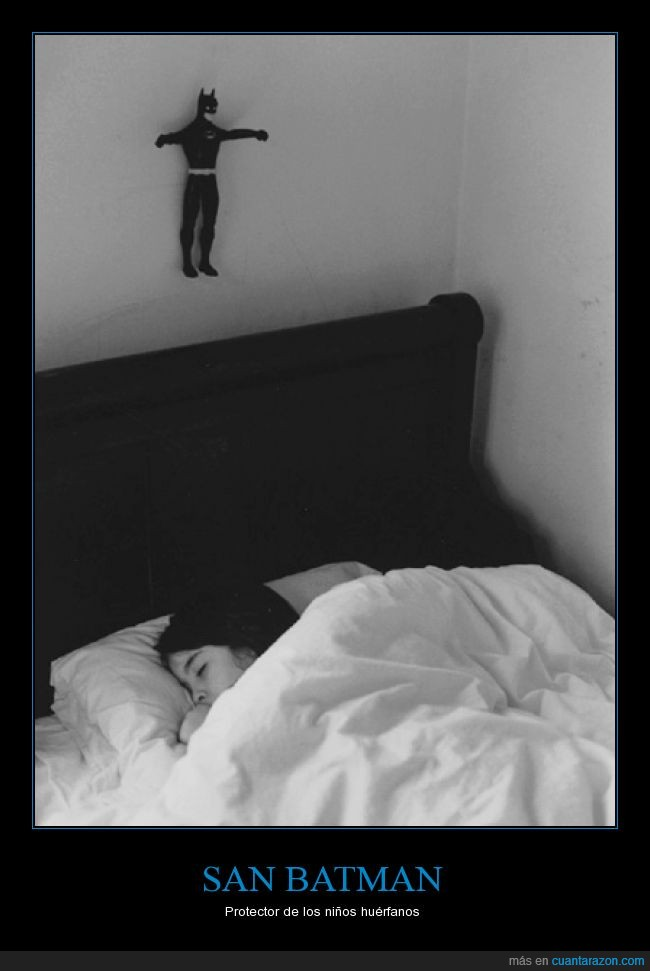 Batman,cama,dormir,figura,San Batman,santo