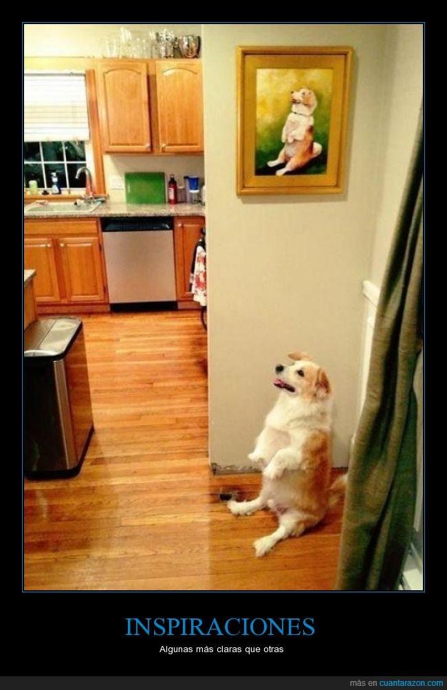 cuadro,es hipermono,inspiración,musa,ni idea de la raza,perro,postura rara,retrato