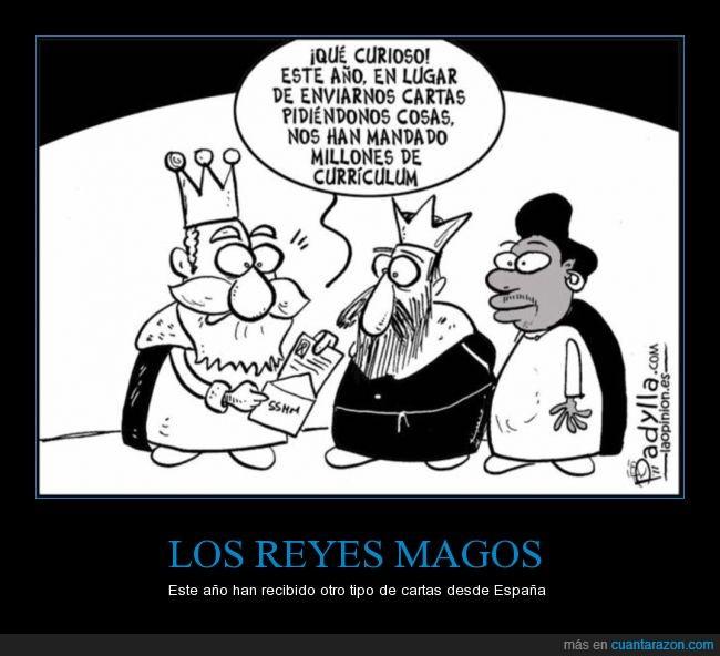 carta,curioso,curriculum,España,millones,paro,Reyes Magos,trabajar