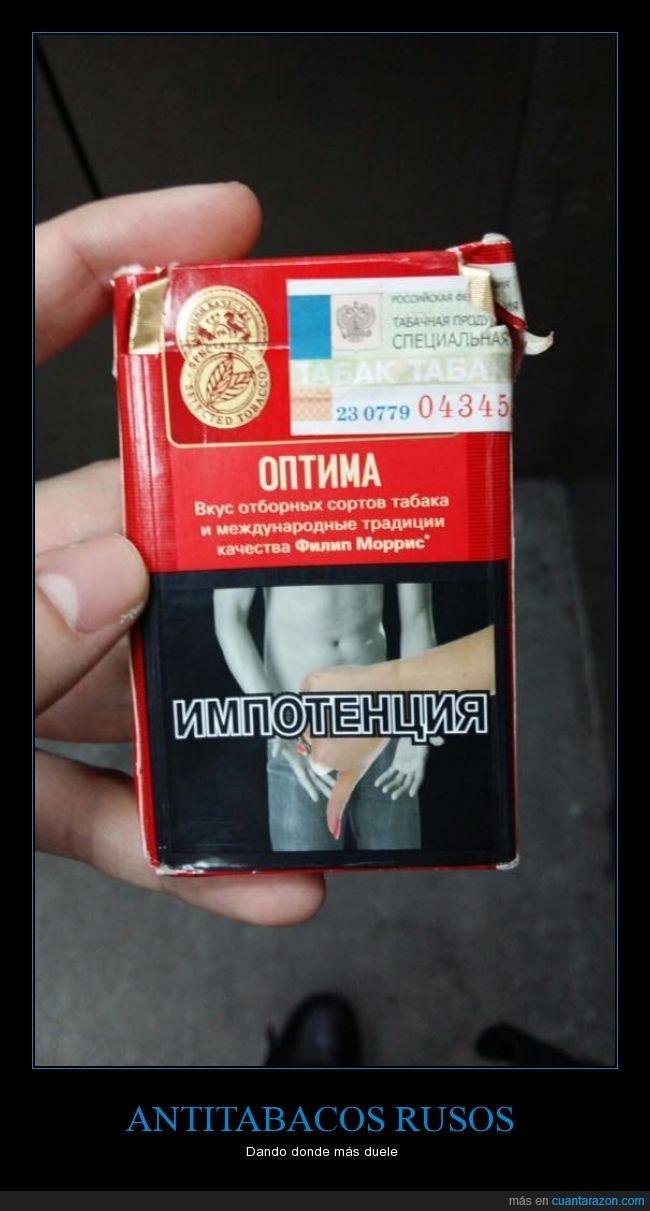 abajo,antitabaco,cajetilla,fumar,impotencia,pulgar,rusia