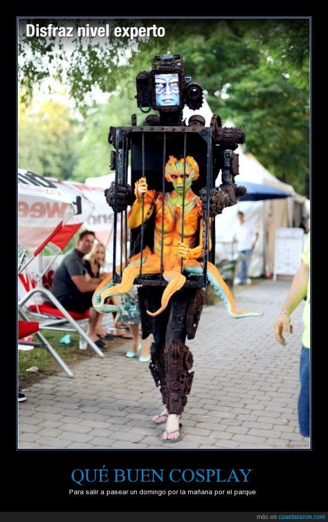 alien,caja,cosplay,disfraz,jaula,robot,terror
