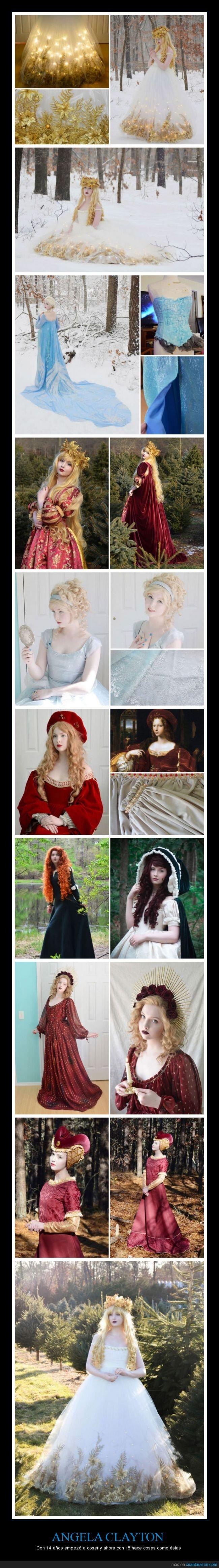 Angela Clayton,arte,confección,coser,cosplay,disfraz,merida,trajes