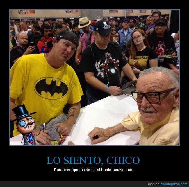 batman,comics,convencion,dc,elegante,firma,marvel,Stan Lee