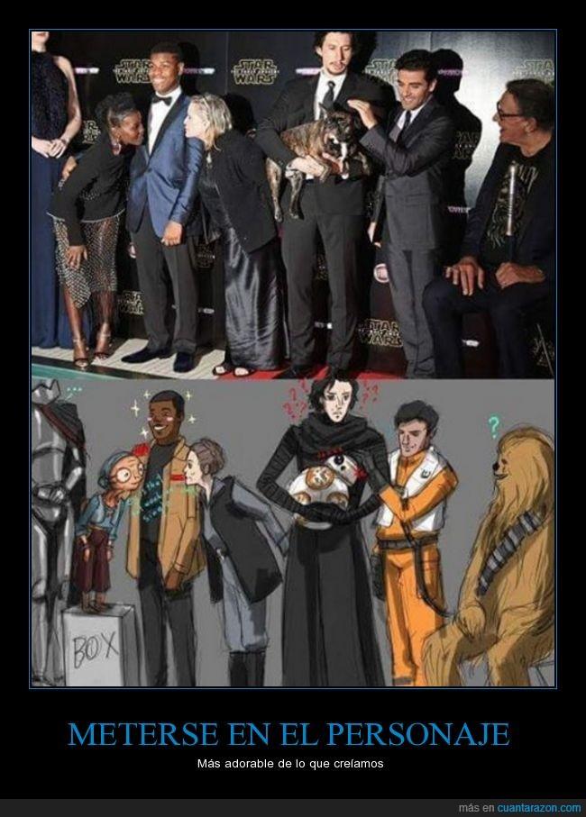 bb8,dibujo,Finn,ilustración,kylo ren,Leia,realidad,Star Wars