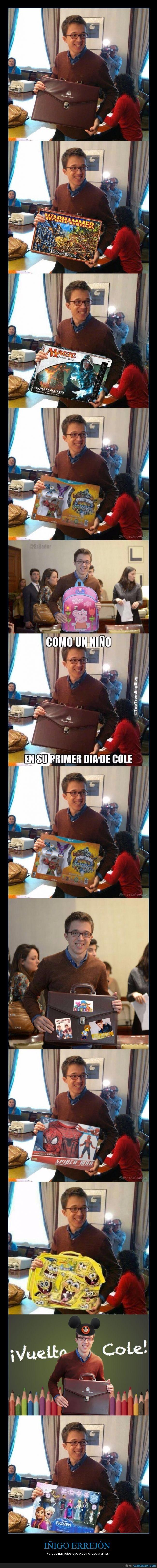 cartera,frozen,Iñigo Errejon,juguete,mochila,muñeco,política,regalo,reyes