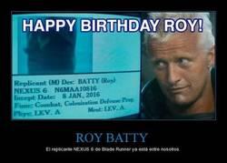 Enlace a ¡Roy Batty, feliz cumpleaños!