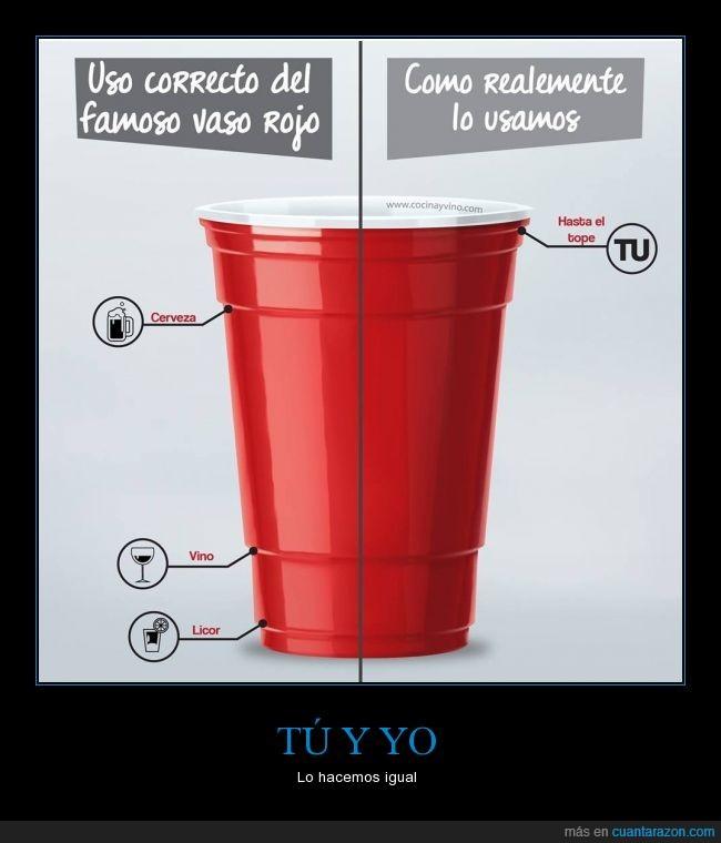 americano,cerveza,hasta el topeee,licor,Vaso Rojo,vino