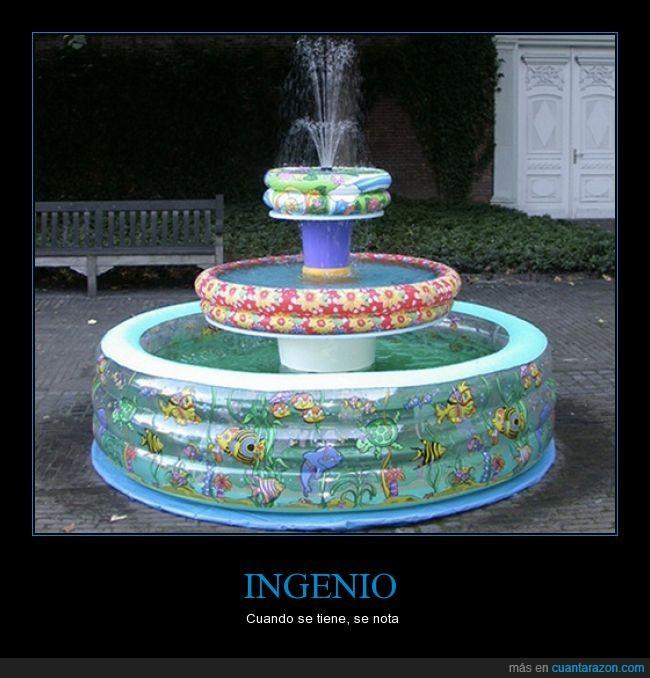 agua,decoración,fuentes,inflables,nadar,piscina