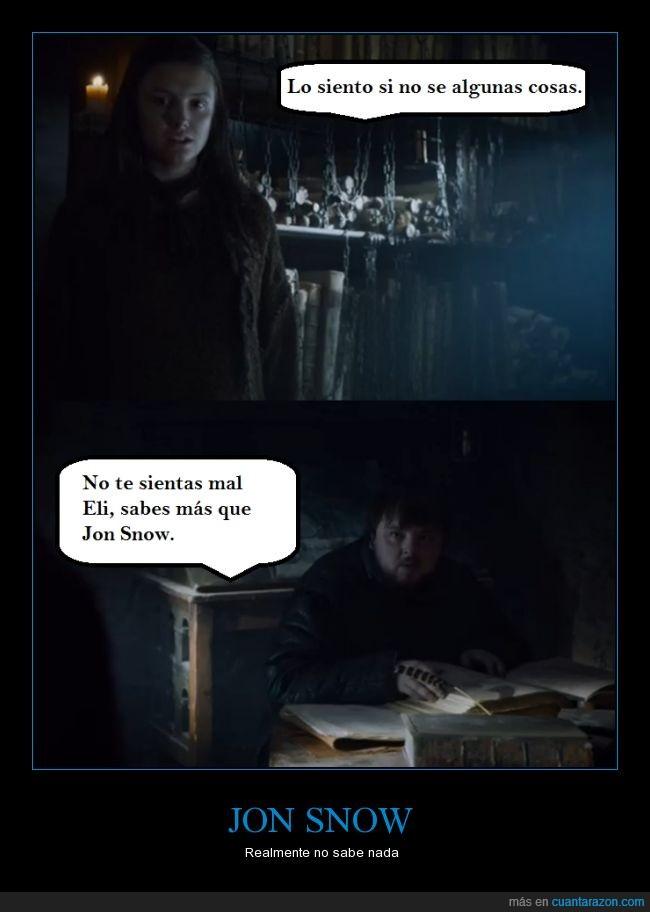 Eli,Gilly,Jon Snow,Juego de Tronos,Sam,tú no sabes nada,Ygritte