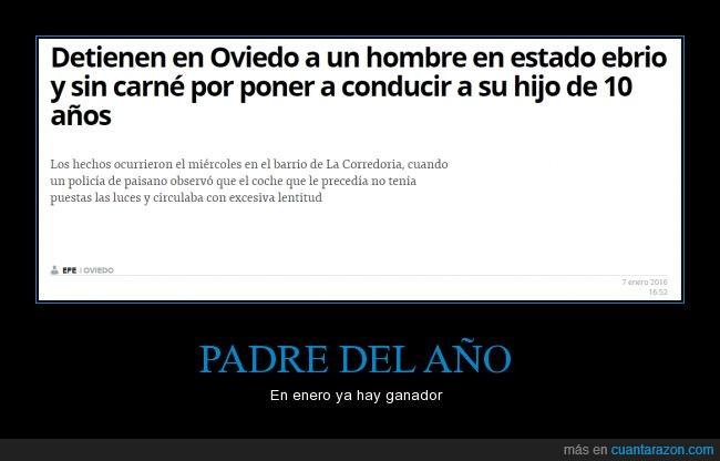 10 años,borracho,conducir,ebrio,gallego,Oviedo