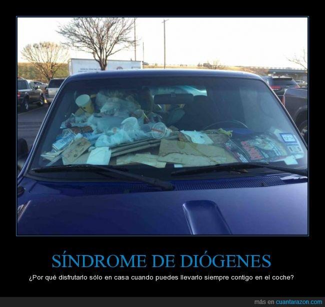 basura,coche,diogenes,sindrome,suciedad,sucio