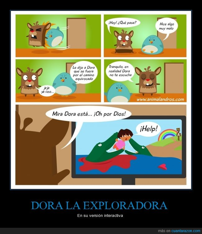 animalandros,Dora la exploradora,muerte,programa infantil,tv interactiva